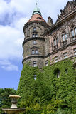 Ksiaz pałac naer Wałbrzyski w Niskim Silesia, Polska Fotografia Royalty Free