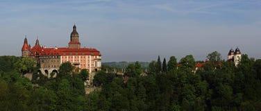 Ksiaz-Schloss nahe Walbrzych, Polen Stockbilder