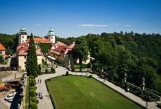 Ksiaz-Schloss von einem Fenster Lizenzfreie Stockfotos