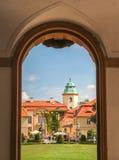 Ksiaz slott Arkivbild
