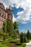 Ksiaz slott i Polen Royaltyfria Bilder