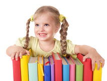 książek dziecka mienia stos Obraz Royalty Free
