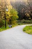 Ksieza gora - park. Empty alley in the park, autumn season Stock Image