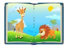 Książka o dżungli zwierzętach Zdjęcia Royalty Free