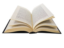 książka odizolowywający otwarty biel Zdjęcia Stock