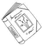 książka pamiętnika rysunek Obrazy Royalty Free