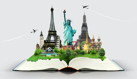 Książka podróż Obrazy Royalty Free