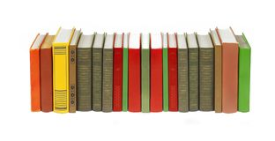 Książki na bielu Obrazy Stock