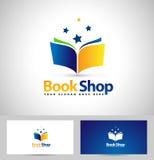 Książkowa loga Książkowego sklepu ikona Obraz Stock