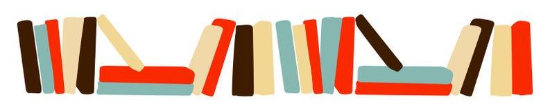 Książkowej półki sztandaru śmieszna kreskówka Obraz Stock
