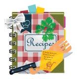 książkowy kulinarny ikony wektoru xxl Zdjęcie Stock