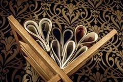 Książkowy serce Fotografia Royalty Free