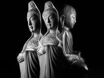 Ksitigarbha i Avalokitasvara Bodhisattva Guan Yin/Guanshiyin/rzeźbimy Zdjęcia Stock