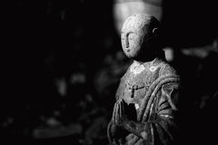 Ksitigarbha Jizo Ojizo-Sama Japanese Buddha Statue stock photo
