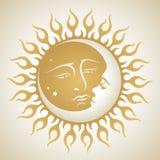 księżyc słońce Fotografia Royalty Free