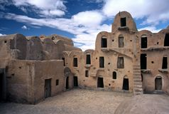 Ksour in Tunisia. Traditional building of the Berbers,Tunisia Royalty Free Stock Photography