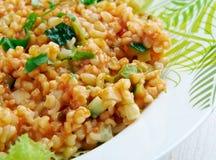 Kısır.bulgur salad or meze Royalty Free Stock Photos