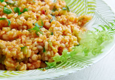 Kısır.bulgur salad or meze Royalty Free Stock Photo