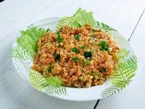 Kısır.bulgur salad or meze Stock Photos