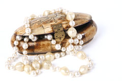 Kästchen mit Kornen für Perlen Lizenzfreie Stockfotografie