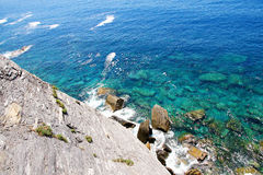 Küste Cinque Terres Stockbild