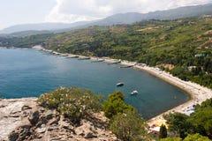 Küste von Schwarzem Meer Lizenzfreie Stockfotografie