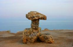 Küstenlinie des Toten Meers Stockfotografie