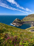 Küstenlinie nahe Boscastle, Cornwall Lizenzfreies Stockbild