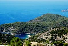 Küstenlinielandschaft des Mittelmeertruthahns Stockfotografie