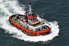 Küstensicherheit, Wiedergewinnung und Rettungsboot Stockfotografie