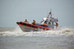 Küstenwache in den Niederlanden Stockfotos