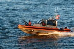 Küstenwache Gunboat Stockfotos