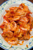 Köstliche würzige heißer Paprika-Garnele Lizenzfreie Stockbilder