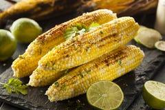 Köstlicher gegrillter mexikanischer Mais Stockfotografie