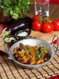 Köstlicher indischer Teller Stockfoto