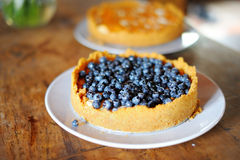 Köstliches Blaubeertörtchen Stockfotos