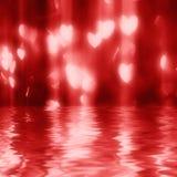 kształtów serca świateł magiczny czerwony kształt Zdjęcie Royalty Free