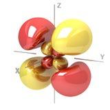 Kształt 4Dyz M-1 atomowy oczodołowy na białym tle Availa ilustracji