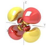 Kształt 5Dyz M-1 atomowy oczodołowy na białym tle Availa ilustracji