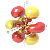 Kształt 6Fyz M-1 atomowy oczodołowy na białym tle Availa ilustracji