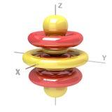 Kształt 6Gz M-0 atomowy oczodołowy na białym tle Availab ilustracji