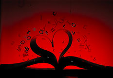 Kształt książka miłość Ilustracja Wektor