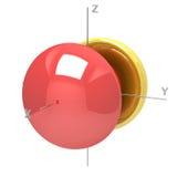 Kształt 6Px atomowy oczodołowy na białym tle Dostępny o ilustracja wektor