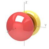 Kształt 4px atomowy oczodołowy na białym tle Dostępny o ilustracji