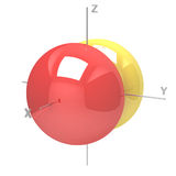 Kształt 2Px atomowy oczodołowy na białym tle Dostępny o royalty ilustracja