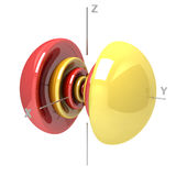 Kształt 7py atomowy oczodołowy na białym tle Dostępny o ilustracji