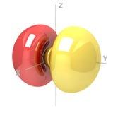Kształt 3py atomowy oczodołowy na białym tle Dostępny o ilustracja wektor