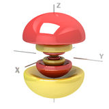 Kształt 6Pz atomowy oczodołowy na białym tle Dostępny o ilustracja wektor
