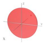 Kształt 1s atomowy oczodołowy na białym tle Dostępny ot ilustracji