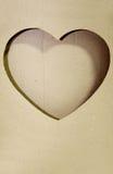kształt serca papieru kształt Obraz Royalty Free